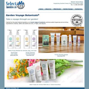 thumbnail of Select Amenities' Garden Voyage Botanicals page